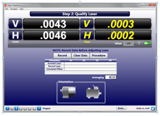 S-1404 Lathe9 Alignment Software - Step 2 Qualify Laser