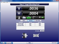 Step 2: Target Mounting Error - S-1403 Bore9 Software